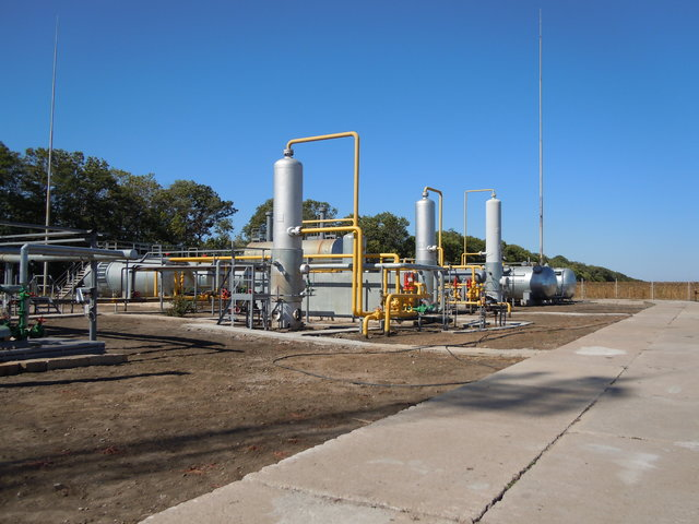 Gas production facilities